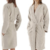 Abyss Spa Bath Robes and Slippers - White