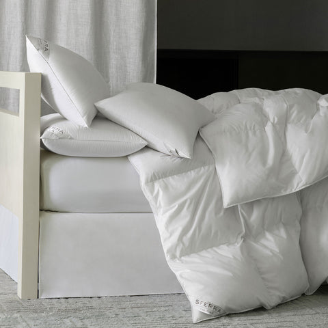 Sferra Cardigan Down Duvet Inserts and Pillows - White