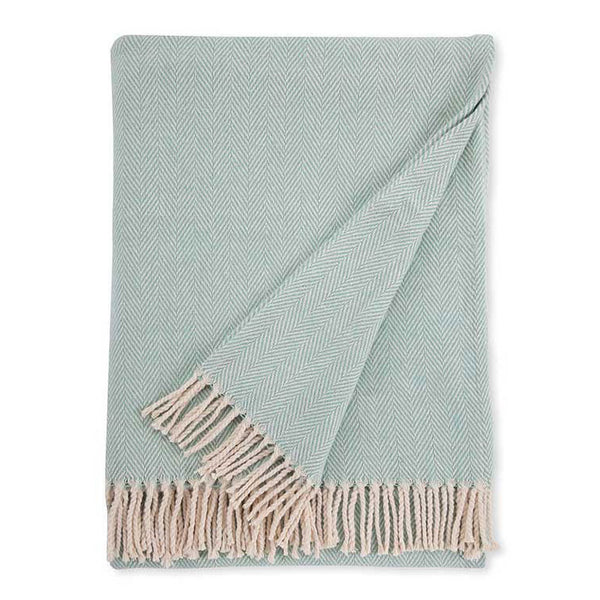 Sferra Celine Throw Blanket Aqua Flandb Com