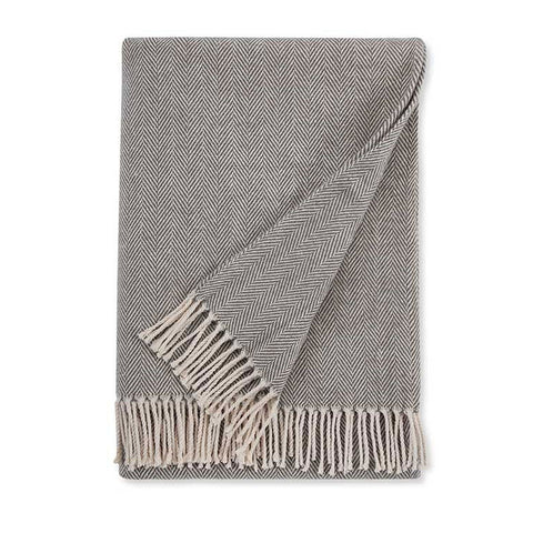 Sferra Celine Throw Blanket - Charcoal