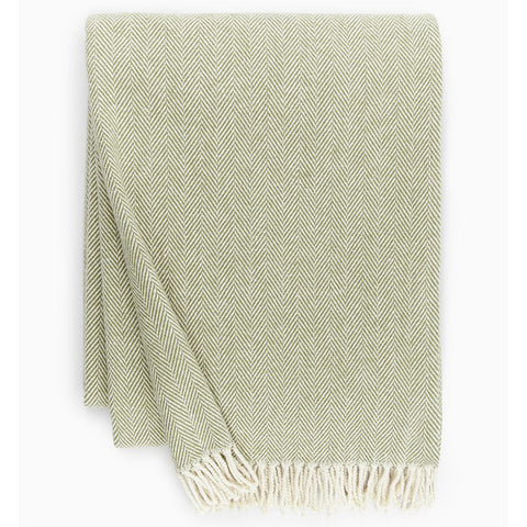 Sferra Celine Throw Blanket - Moss