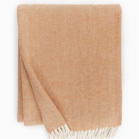 Sferra Celine Throw Blanket - Paprika