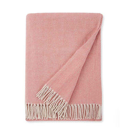 Sferra Celine Throw Blanket - Salmon