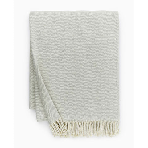 Sferra Celine Throw Blanket - Silver Sage