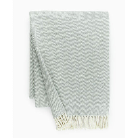 Sferra Celine Throw Blanket - Slate Blue