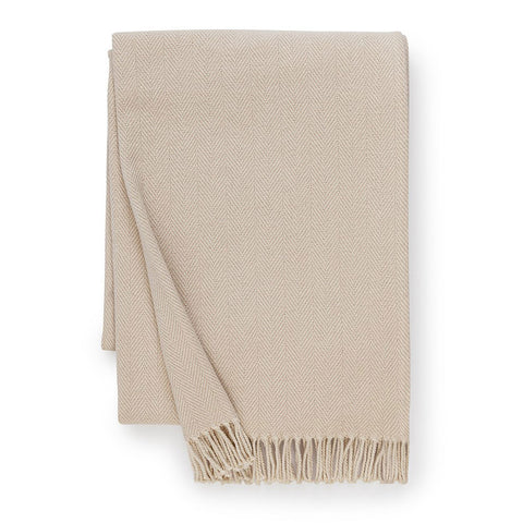 Sferra Celine Throw Blanket - Taupe