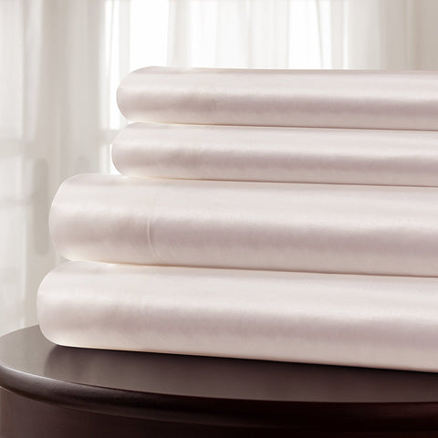 100% Pure Silk Charmeuse Pink Sheet Sets by Mulberry Park Silks