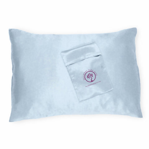 Mulberry Parks Silks Pure Silk Travel Pillowcase - Blue
