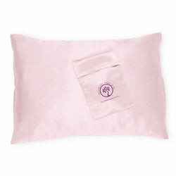 Mulberry Parks Silks Pure Silk Travel Pillowcase - Pink