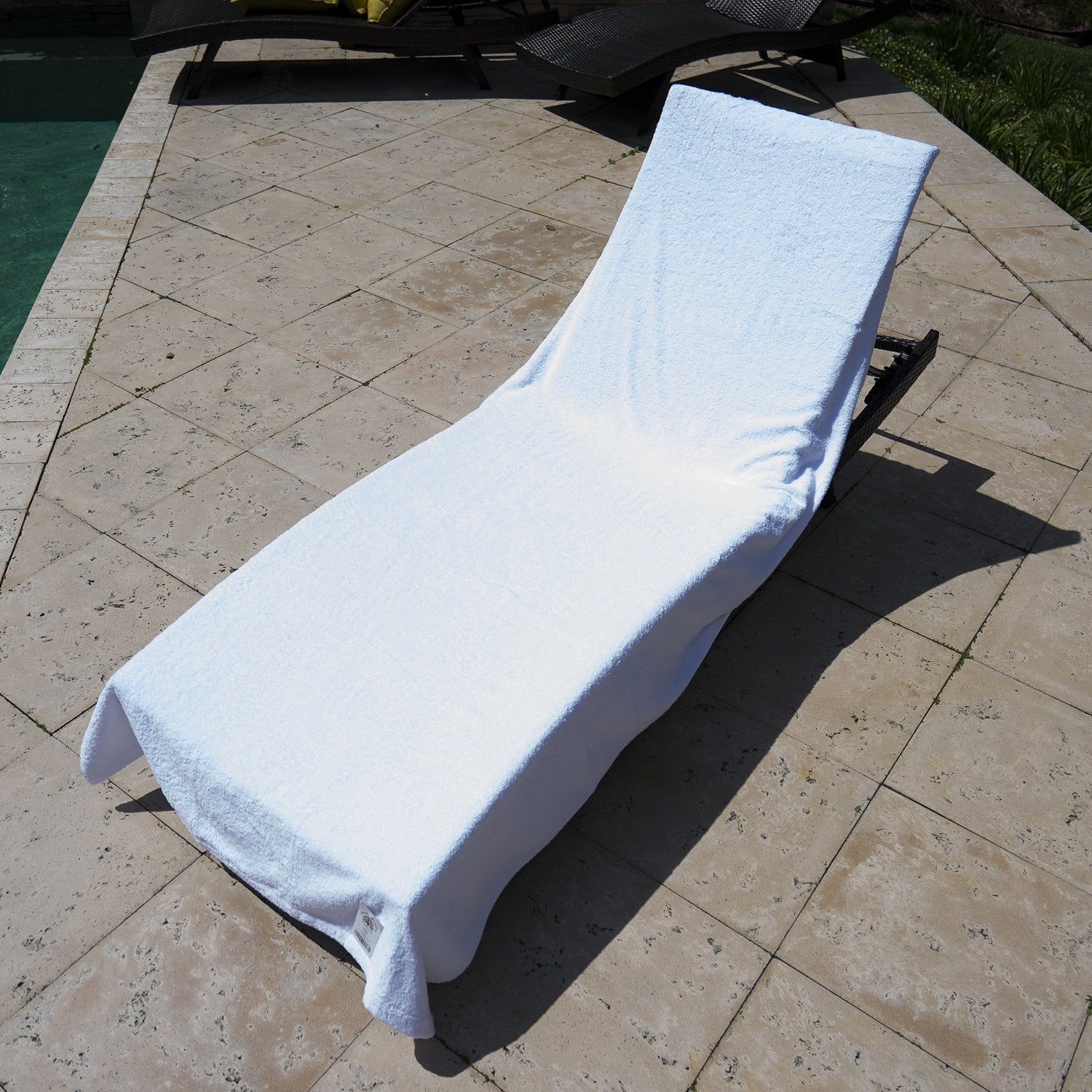 Resort Terry Lounge Chair Towel   White ...