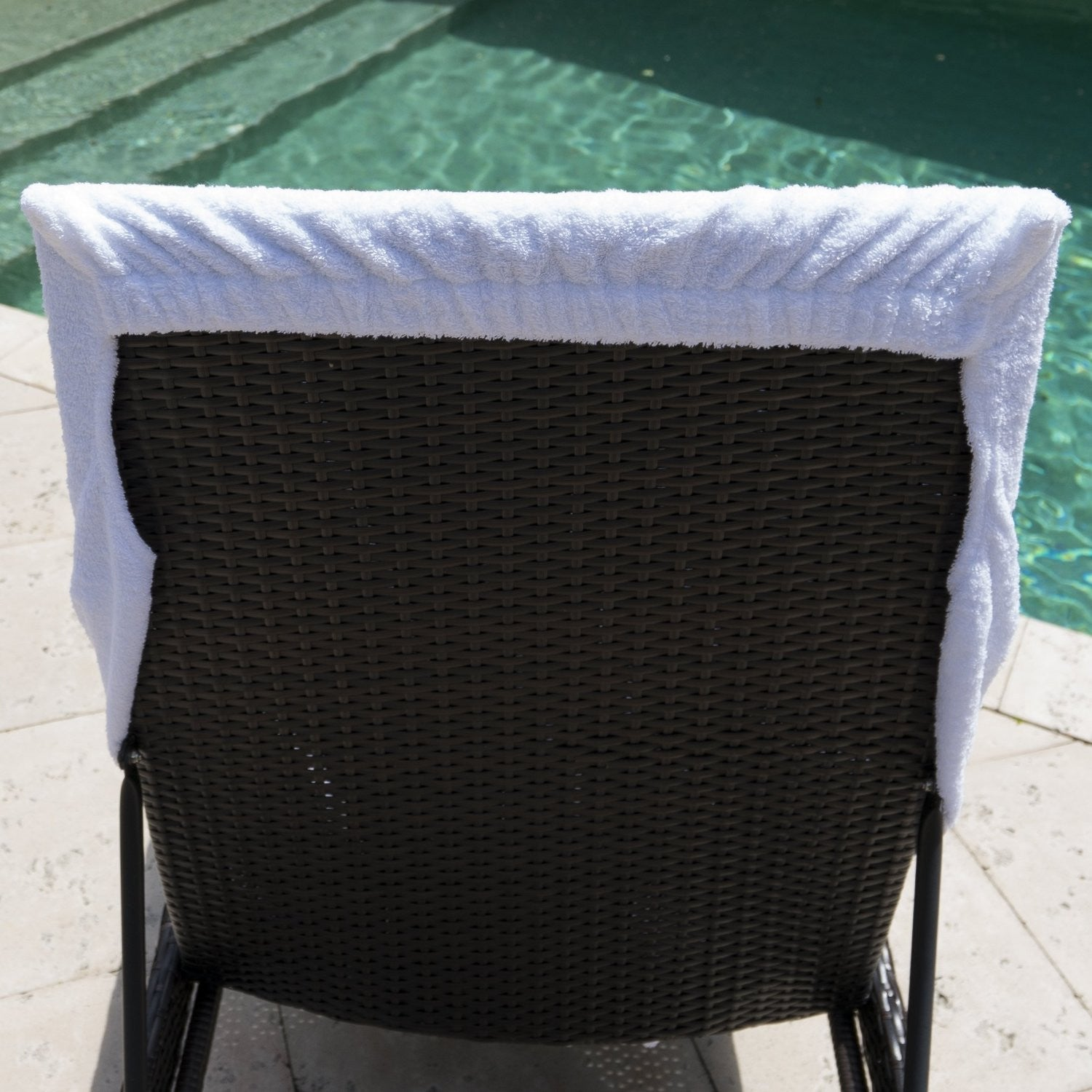 Winter Park Towel Co Resort Terry Lounge Chair Towel White – FLandB