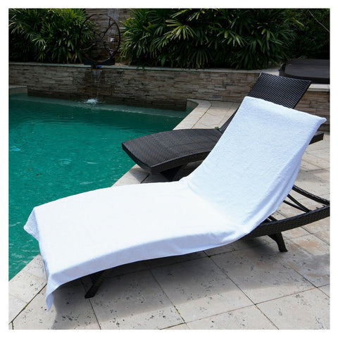 ARLU Home Resort Terry Lounge Chair Towel - White