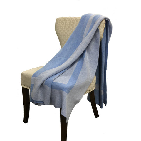 Alashan 100% Cashmere The Homestead Throw - Sky/Periwinkle