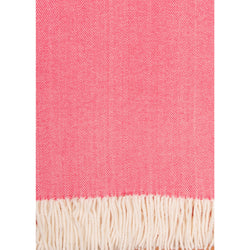 Alashan Cotton / Acrylic Adirondack Herringbone Throw - Coral Island