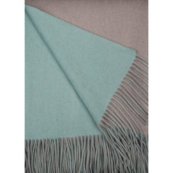 Alashan Merino / Cashmere Double Faced Throw - Platinum/Meadow