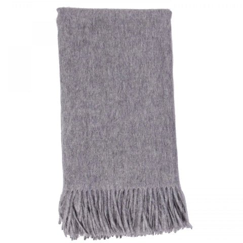 Alashan 100% Cashmere Plain Weave Throw - Ash