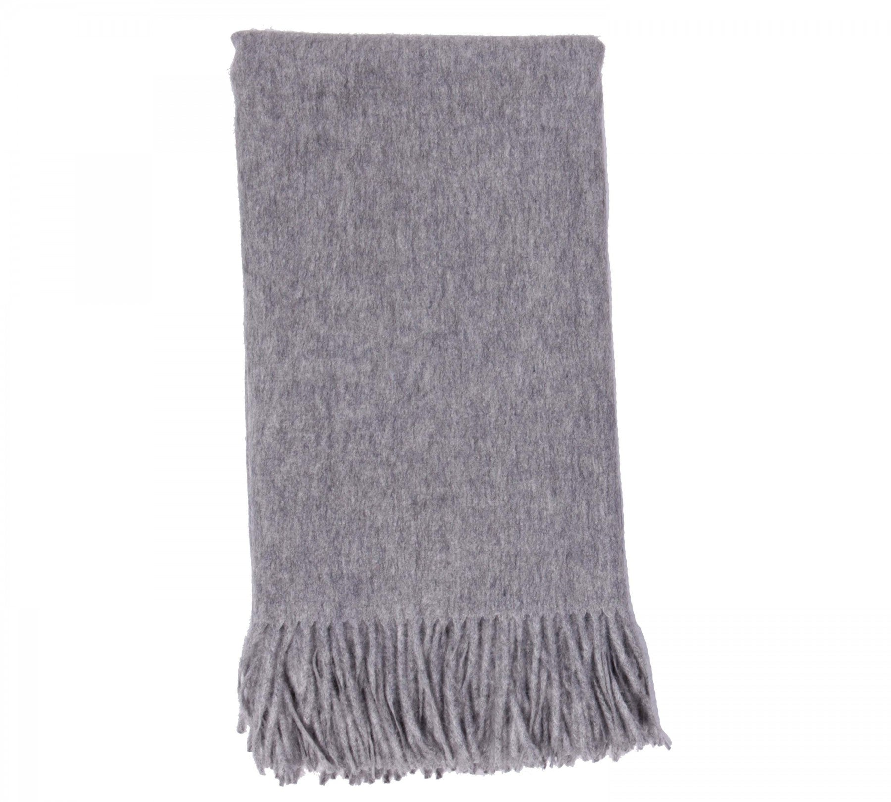 Alashan Merino / Cashmere Plain Weave Throw - Ash