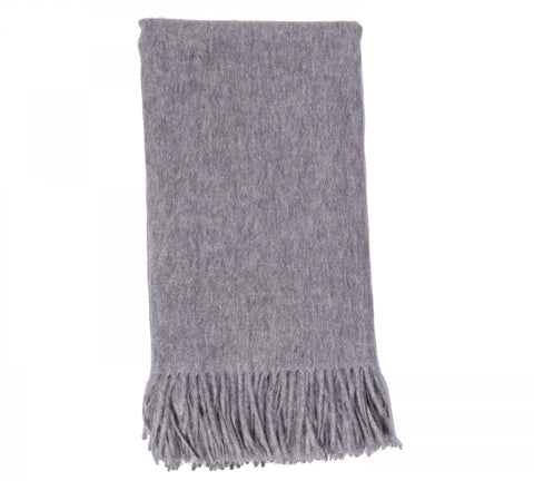 Alashan  Merino /   Cashmere Plain Weave Throw Blanket - Ash
