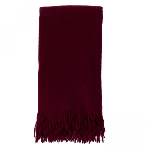 Alashan 100% Cashmere Plain Weave Throw - Bordeaux