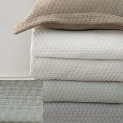 BOVI Simply Cotton Matelasss and Shams - Dove