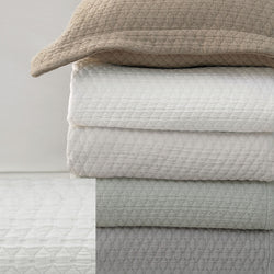 BOVI Simply Cotton Matelasss and Shams - White