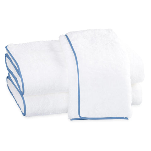 Matouk Cairo Bath Towels - White / Azure