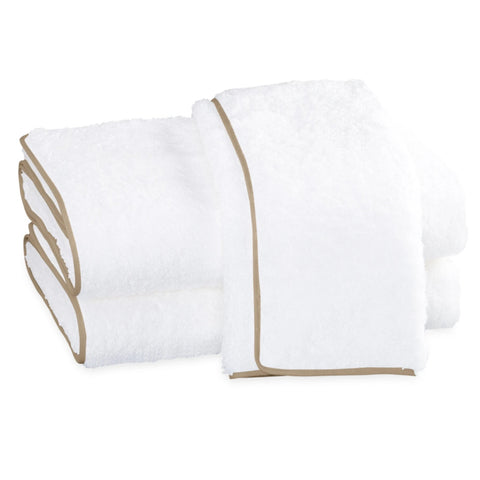 Matouk Cairo Bath Towels - White/Linen