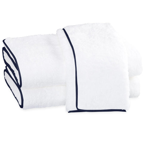 Matouk Cairo Bath Towels - White/Navy