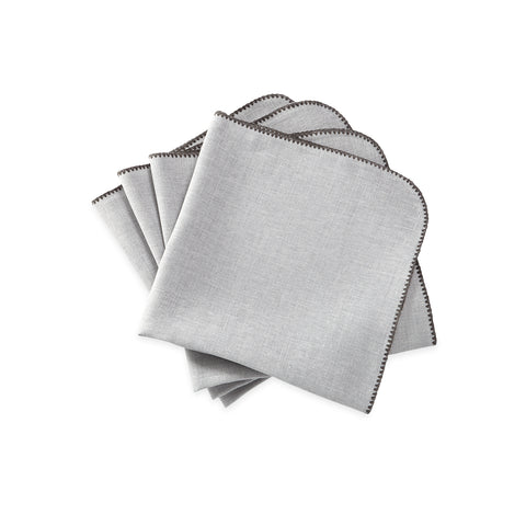 Matouk Calypso Table Linens - Silver