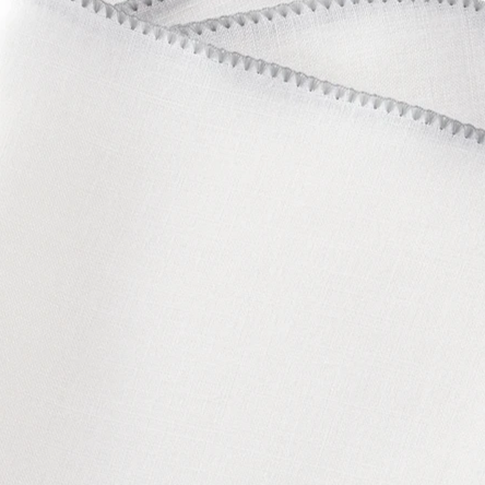 Matouk Calypso Table Linens - White/Silver