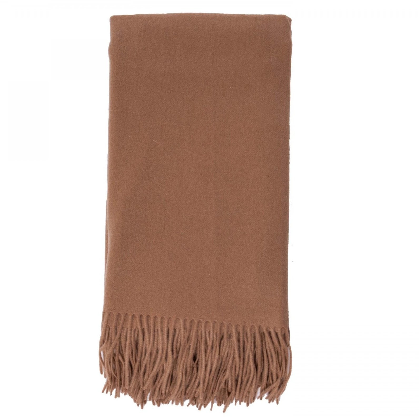 Alashan 100% Cashmere Plain Weave Throw - Camel