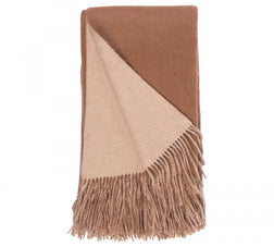 Alashan 100% Cashmere Double Faced Throw - Camel/Apricot