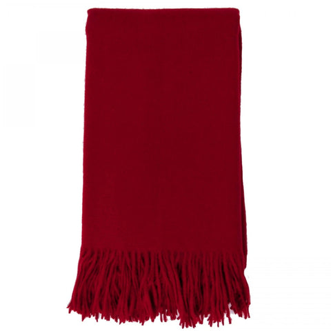 Alashan 100% Cashmere Plain Weave Throw - Claret