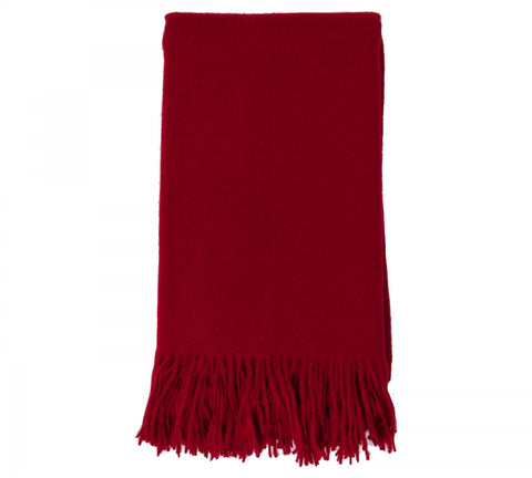 Alashan  Merino /   Cashmere Plain Weave Throw Blanket - Claret