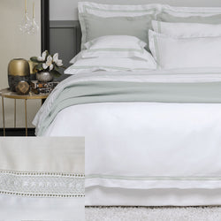 BOVI Devere Bedding - Ivory / White