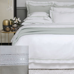 BOVI Devere Bedding - Taupe / White