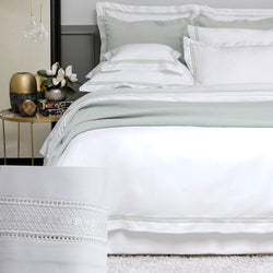 BOVI Devere Bedding - White / White