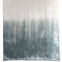 Kevin O'Brien Studio Dip Dye Knotted Velvet Throw - Sage/White