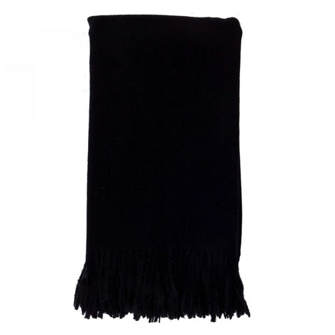 Alashan 100% Cashmere Plain Weave Throw - Ebony