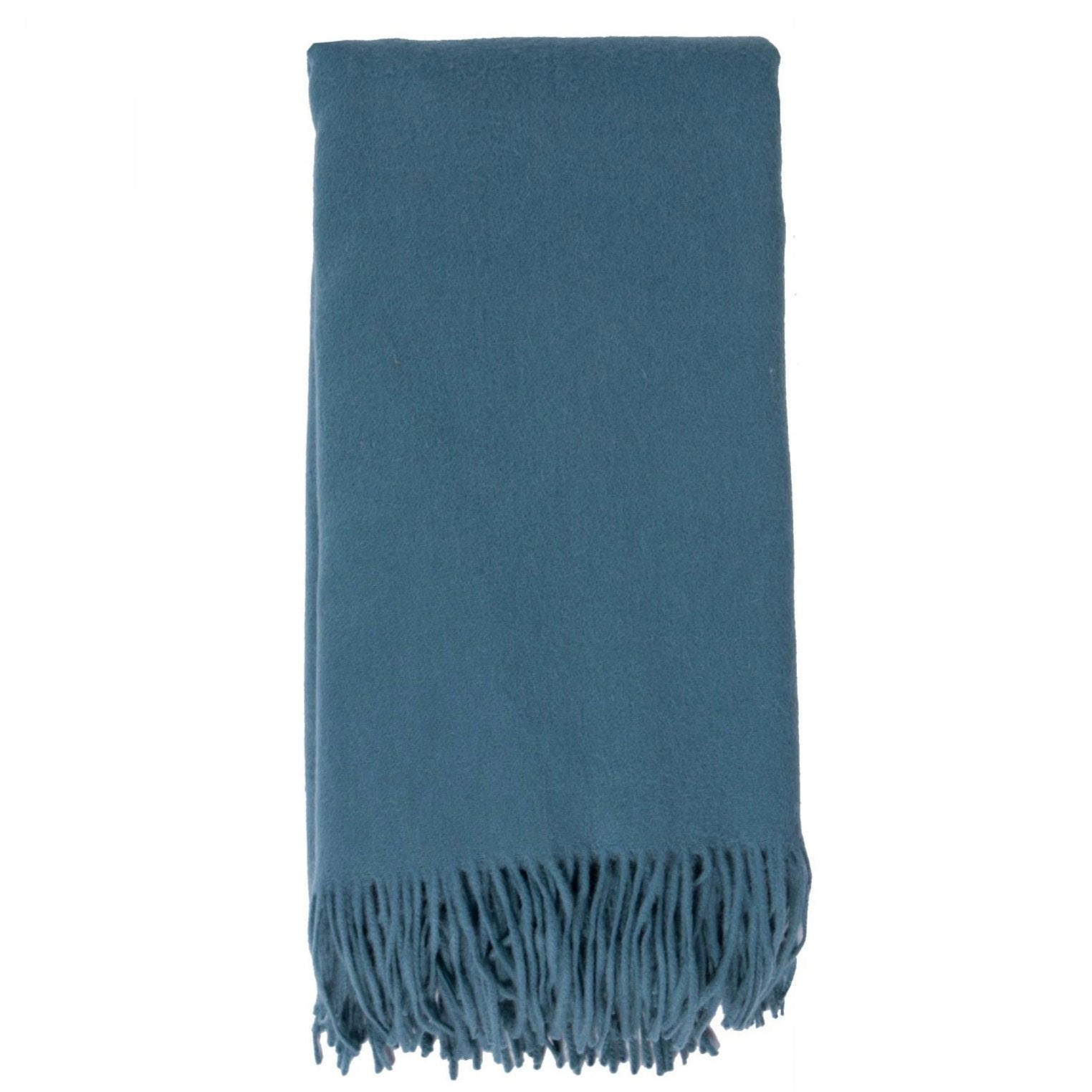 Alashan 100% Cashmere Plain Weave Throw - Evening Sky
