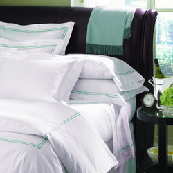 Sferra Grande Hotel Collection - White/Aqua