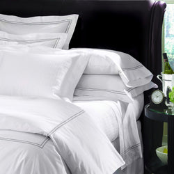Sferra Grande Hotel Sheet Sets - White/Grey