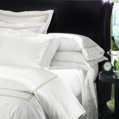 Sferra Grande Hotel Collection - White/Taupe