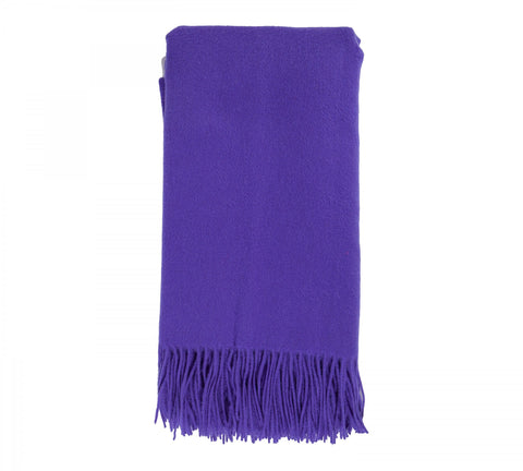 Alashan  Merino /   Cashmere Plain Weave Throw Blanket - Grape