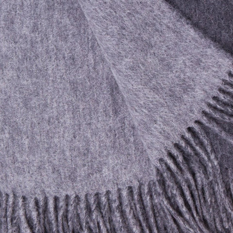 Alashan 100% Cashmere Double Faced Throw - Charcoal/Ash
