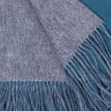Alashan 100% Cashmere Double Faced Throw - Ash/Evening Sky
