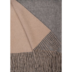 Alashan Merino / Cashmere Double Faced Throw - Ash/Bisque