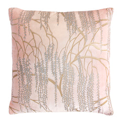 Kevin O'Brien Studio Metallic Willow Velvet Decorative Pillow - Blush