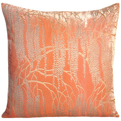 Kevin O'Brien Studio Metallic Willow Velvet Decorative Pillow - Mango