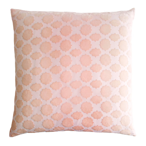 Kevin O'Brien Studio Mod Fretwork Velvet Decorative Pillow - Blush